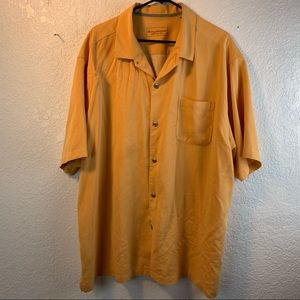 Tommy Bahama Mens XL Silk Orange  S/S  Shirt
